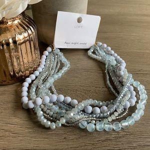 NWT LOFT blue beaded necklace 💎